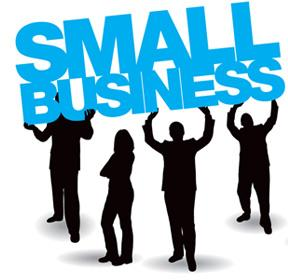 small business supported by silhouettes