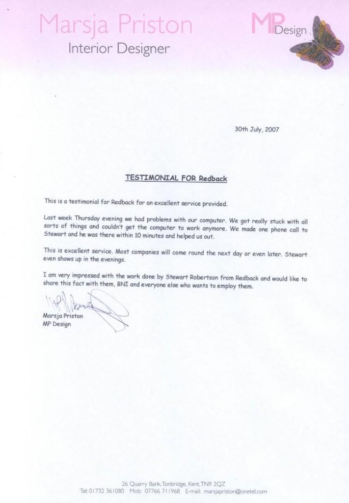 MPDesign Testimonial